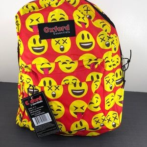 Oxford Essentials Child Backpack Emoji  NWT Red